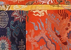 close-up of detail of brocade