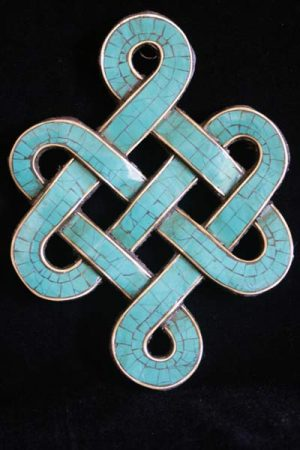 Endless knot wooden hanging WHEK1