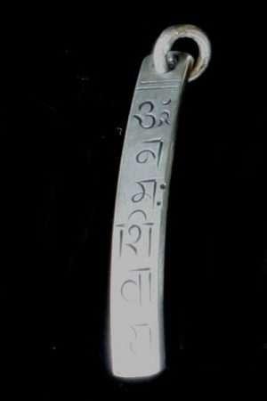 Vertical Om Mani pendant WS_PVOM1