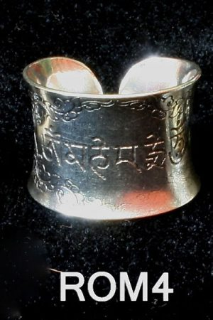 Fine carve silver finish ring WS_ROM4