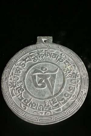 Slate carving Om Mani with Om WS_SCOM1OM